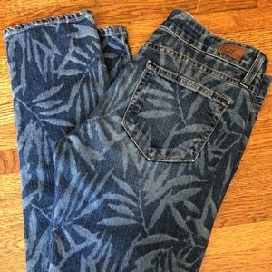 Paige Jeans with leaf print